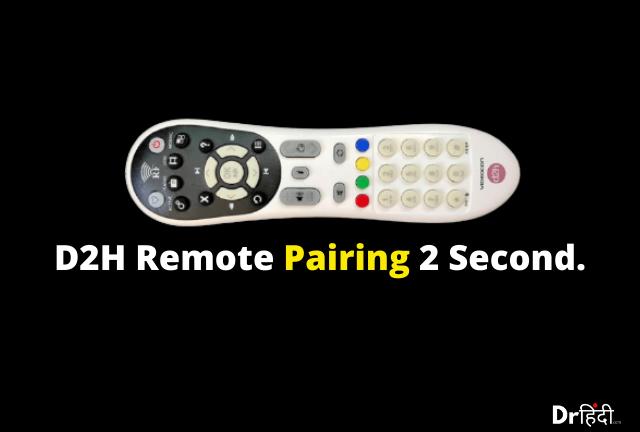 Videocon D2H Remote Pairing