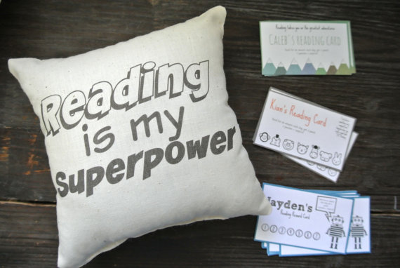 Reading Reward pillow from Etsy