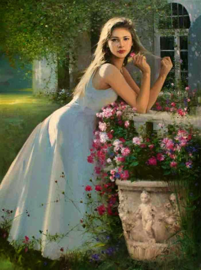 Романтические картины женщин. An He