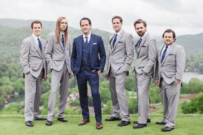 Groomsmen Tuxedo Wedding Suits 32