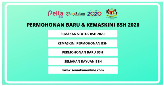 Permohonan Baru Kemaskini Bantuan Sara Hidup Bsh 2020 Online Buletin Sabah
