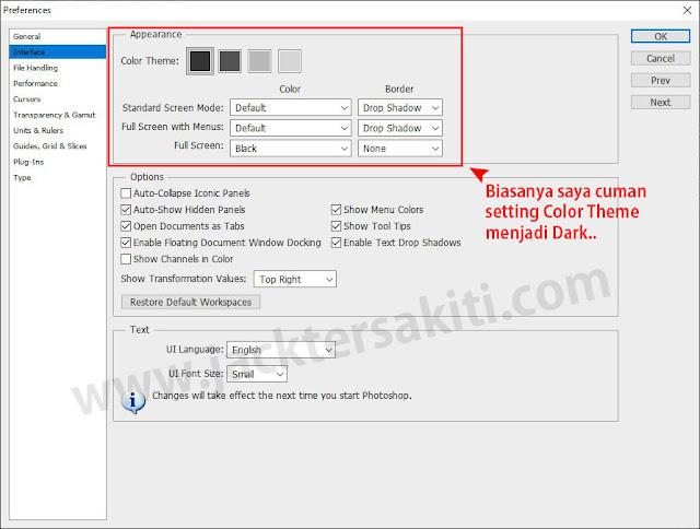 Pengaturan Preference Adobe Photoshop