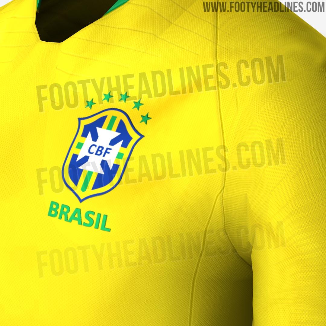 c946b802ee Contrairement aux infos fuitées, le maillot du Brésil de la Coupe du Monde  2018 domicile n