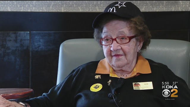 Ruthie Shuster, 100 y.o. , McDonald's employee in North Huntingdon, Pennsylvania doesn't want to plan her retirement !