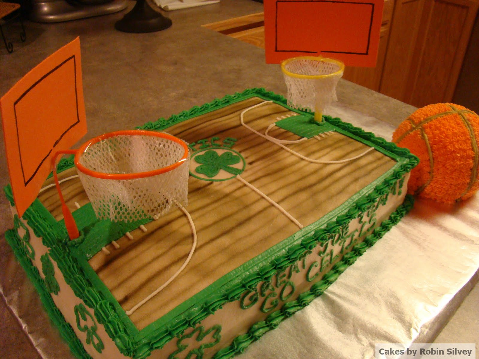 Southern Oregon Cake Decorator Celtics Basketball Court Cake