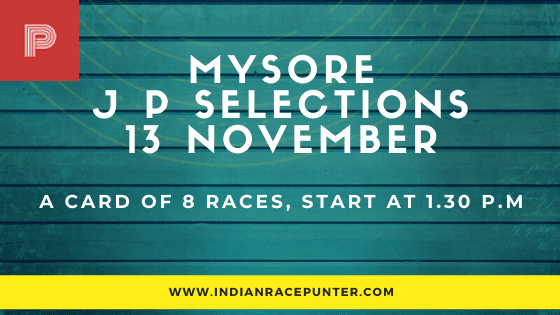 Mysore Jackpot Selections 13 November