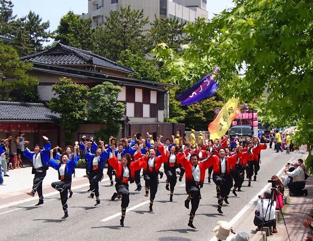 Yosakoi Dance Festival at Noto, Wakura, Nanao City, Ishikawa Pref.