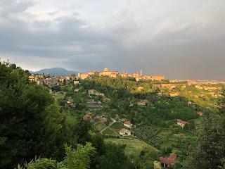 View from Via Sudorno toward the Upper City.
