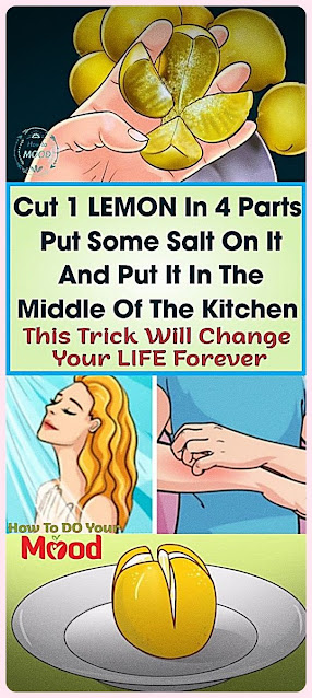 Cut A Lemon In 4 Parts, Add Salt and Put It In The Middle Of The Kitchen. This Will Save You A Fortune!