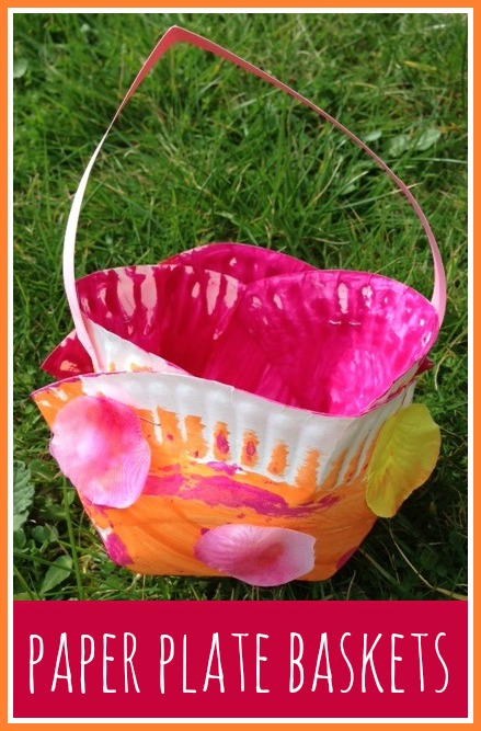 How to make spring themed paper plate baskets for Easter  sc 1 st  Jenniferu0027s Little World & Jenniferu0027s Little World blog - Parenting craft and travel: Simple ...