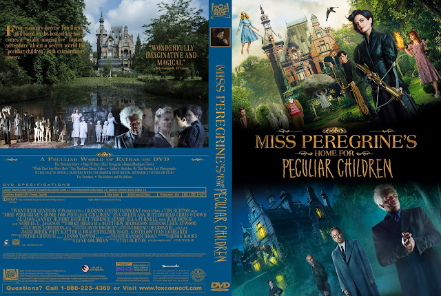 Miss Peregrines Home For Peculiar Children DVD Cover