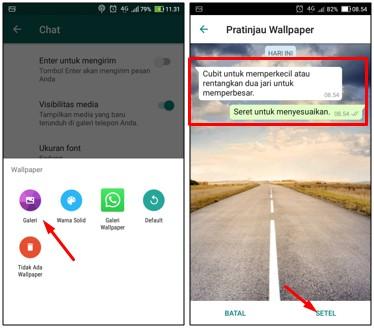 Mengganti Background WhatsApp Dengan Foto Buatan Sendiri