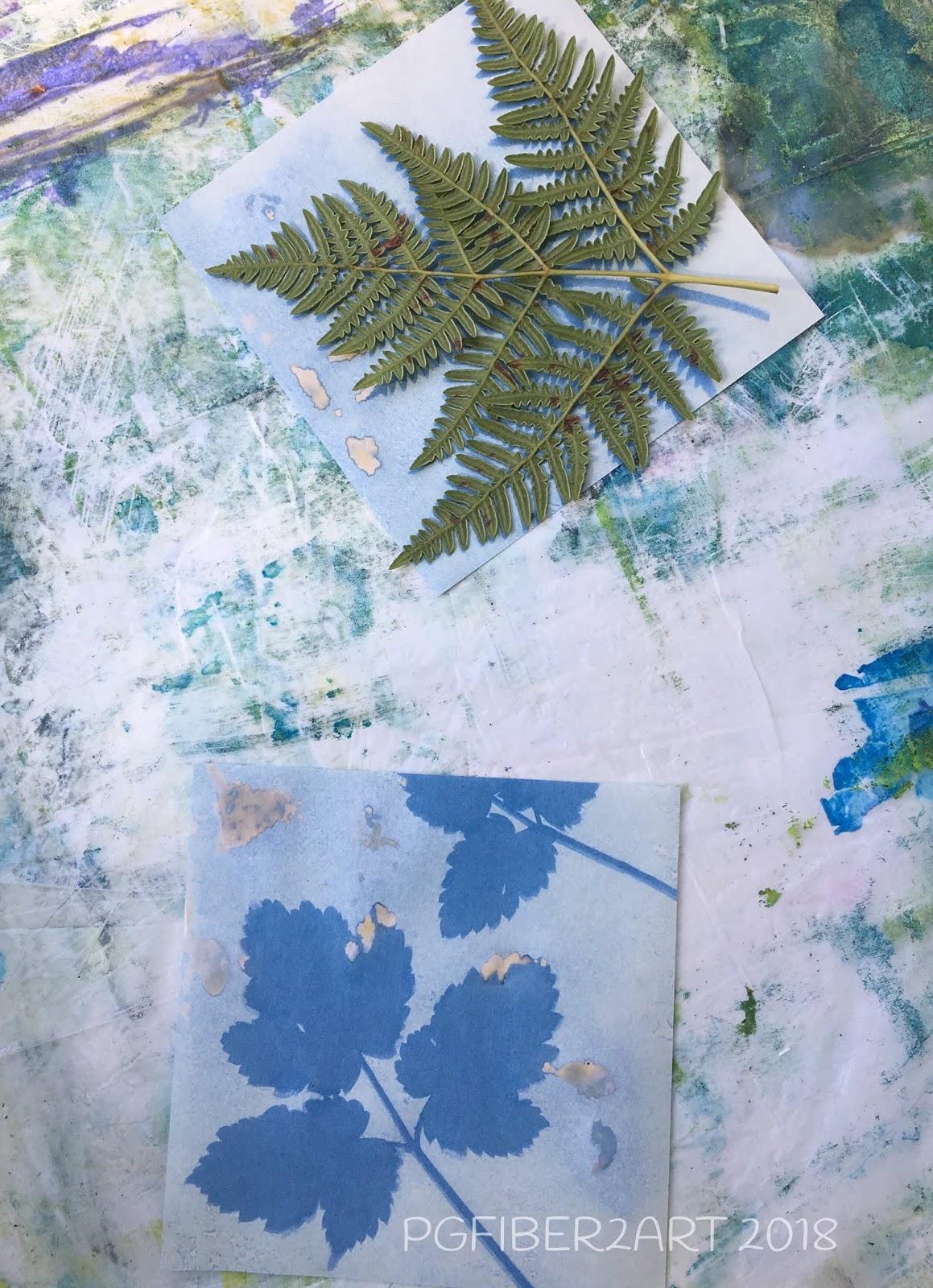 PG Fiber2Art: Experimenting with Sunprint Paper