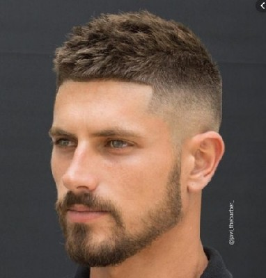 model rambut tentara