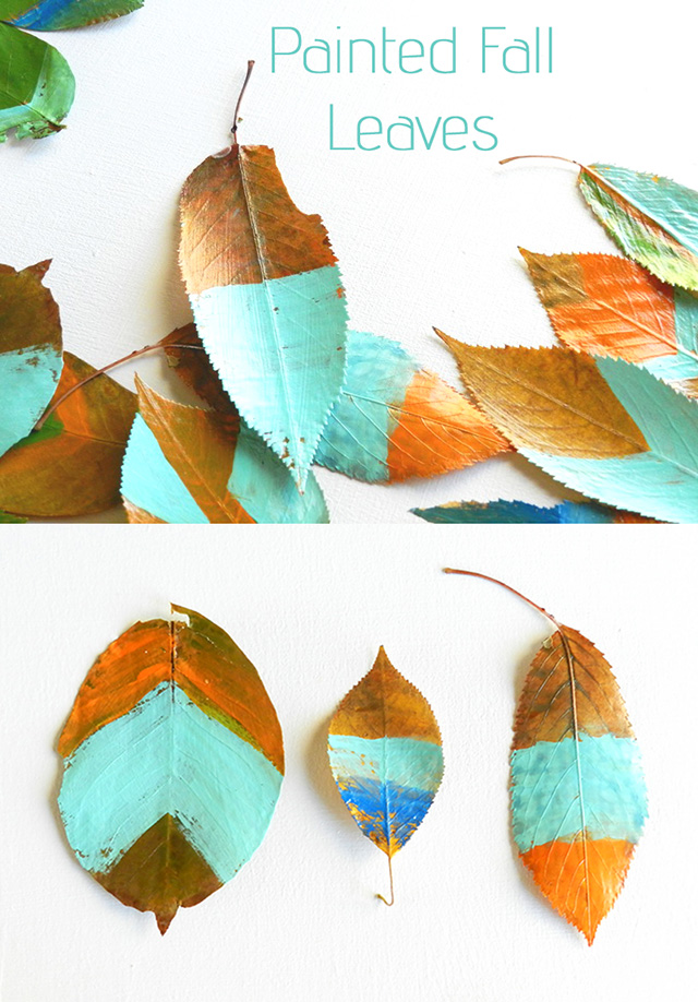 Painted Fall Leaves Craft by Elise Engh Studios