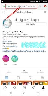 Cara Copy URL Postingan Dan Profil Instagram Melalui Aplikasi Web Browser