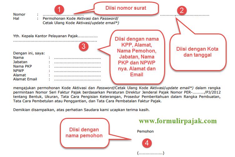 Kode Aktivasi Dan Password Efaktur Cara Lapor Pajak Online