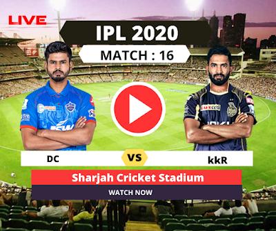 ipl 2020, Match 16: Delhi vs Kolkata, 16th Match