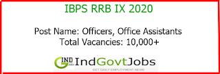 IBPS RRB IX Exam 2020 indgovtjobs