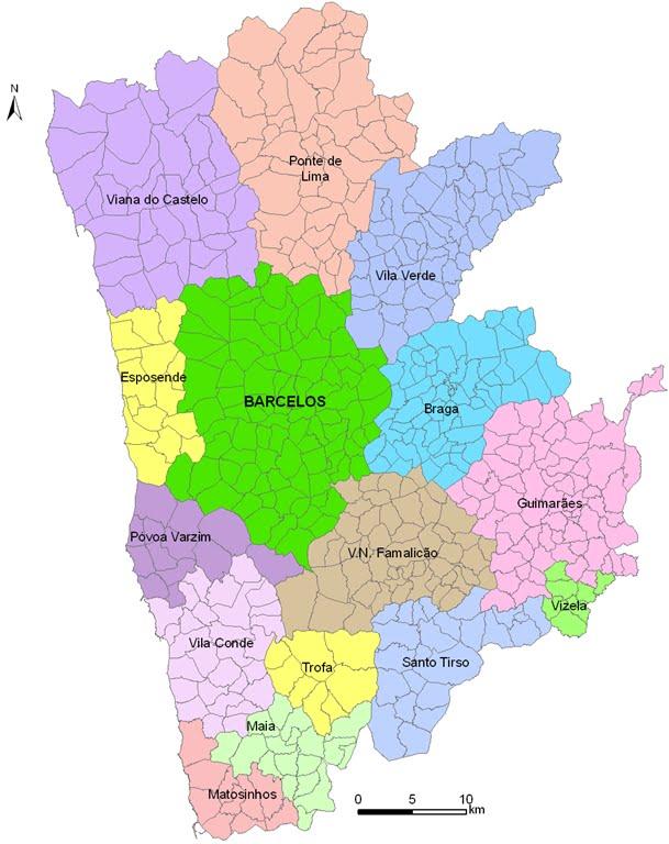 mapa das freguesias do concelho de barcelos Palme: Reforma administrativa no concelho de Barcelos (1) mapa das freguesias do concelho de barcelos