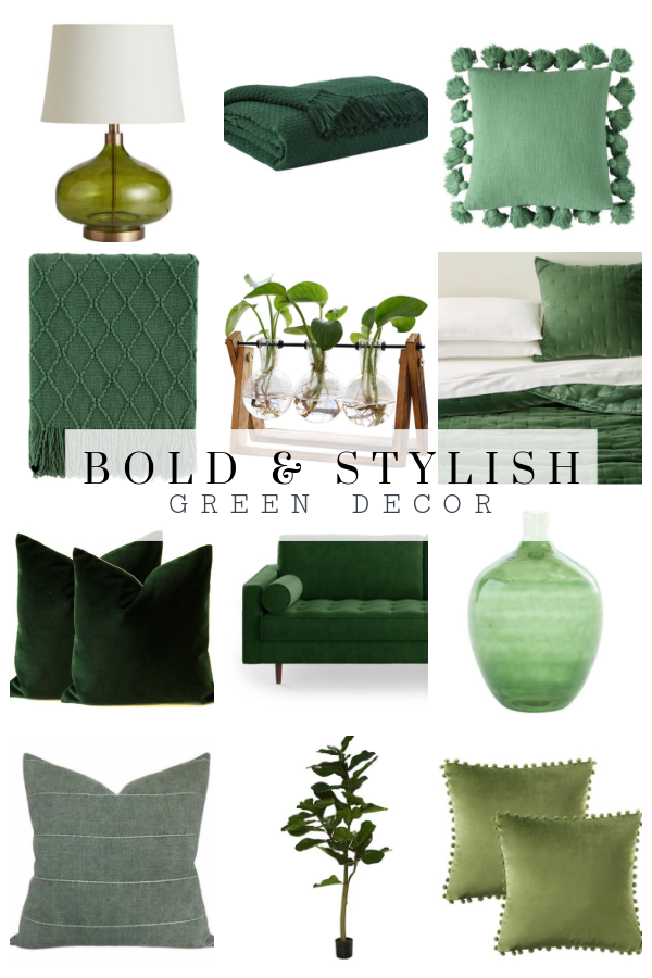 Bold and stylish green decor