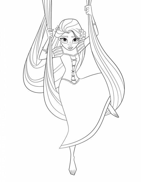 Tranh tô màu nàng công chúa tóc mây 24