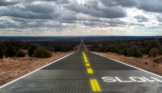 Solar-powered LED Glass Road