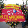 Papan Bunga Wedding Wagub Jatim
