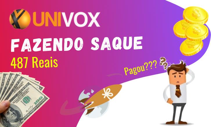 prova de pagamento univox