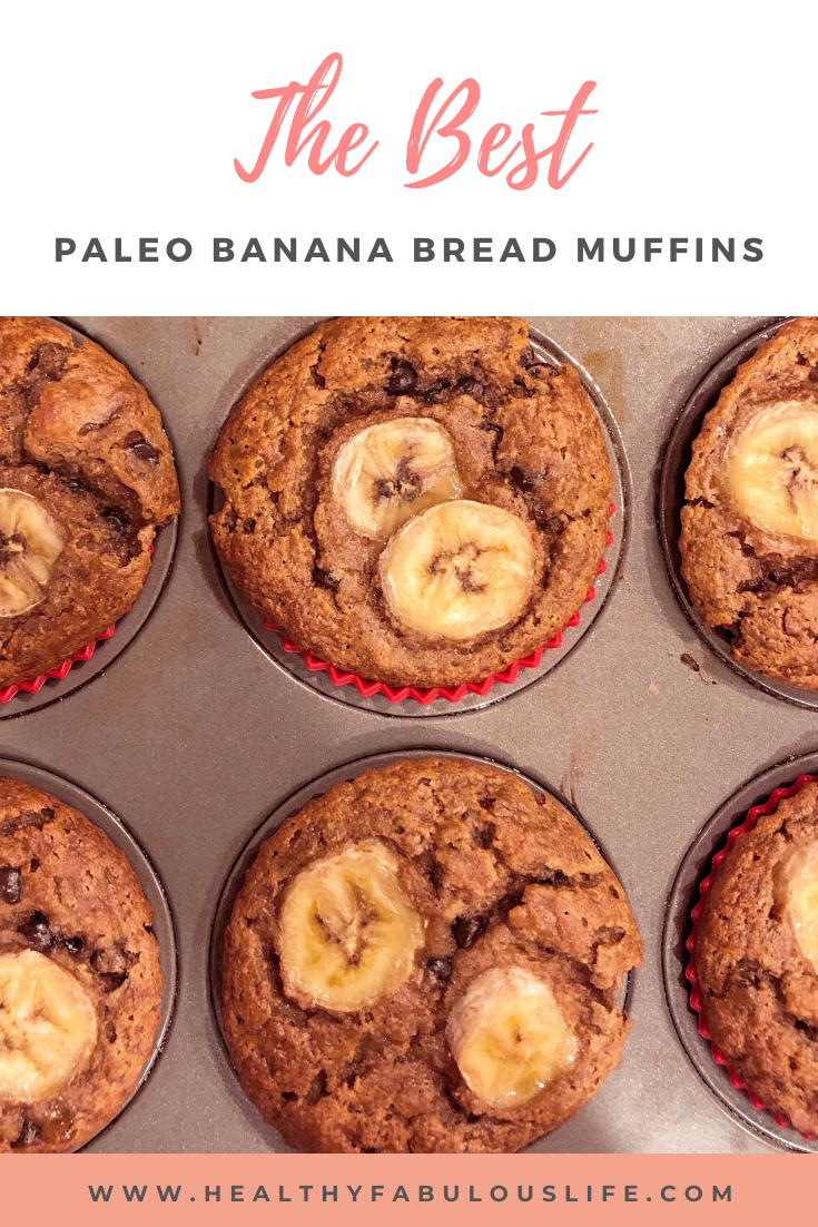 Easy, one bowl recipe for the best ever Paleo Banana Bread Muffins. Free of gluten, grains, refined sugar, and dairy. Loaded with good for you ingredients and packed with protein. These healthy muffins are perfect for meal prep!