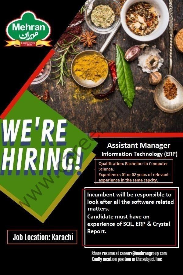 careers@mehrangroup.com Jobs - Mehran Spice & Food Industries Jobs 2021 Latest Vacancies