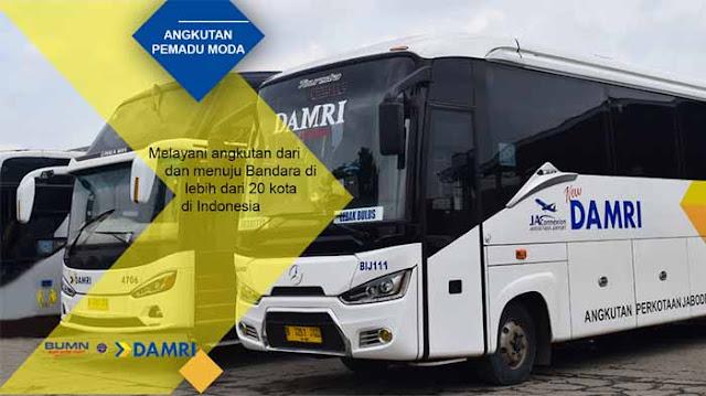 Damri Bandara Soekarno Hatta ke Bogor 2019