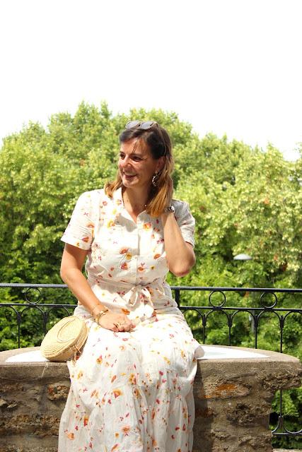 robe longue Sézane, look du jour, les petites bulles de ma vie