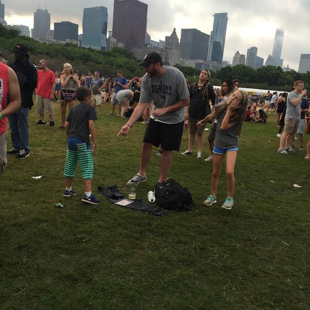 families dancing at lollapalooza