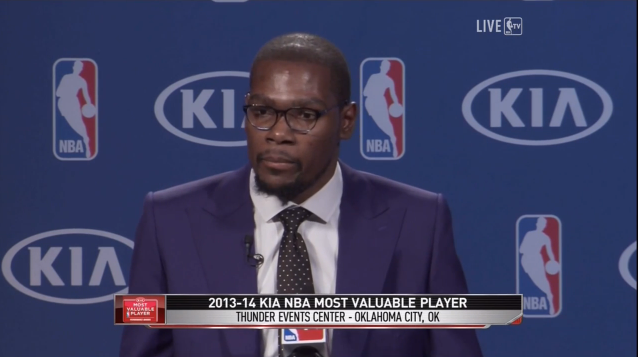 e89f298e1b52 Mico Halili  Kevin Durant emotional MVP speech. KD says Mom is the ...