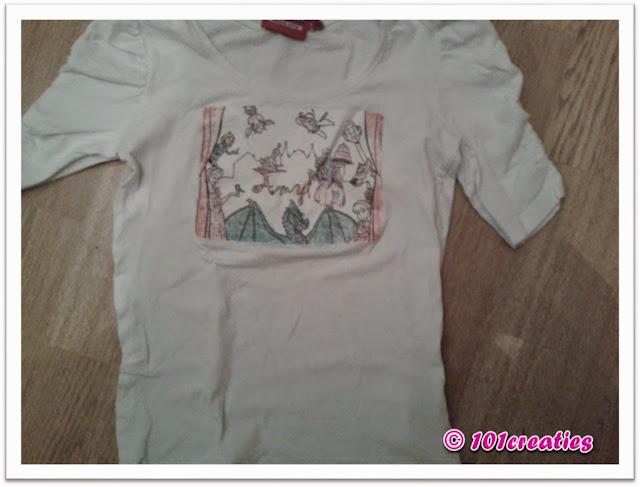 T-shirt met kleurplaat