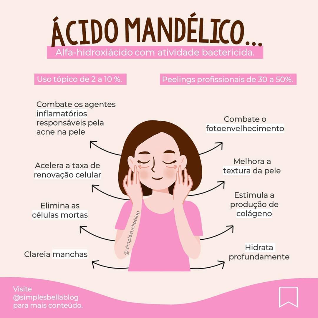 Ácido Mandélico no combate à acne