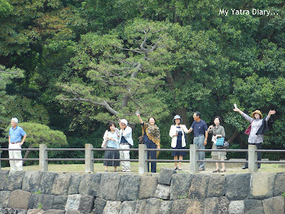People waving at us, The Sumida River Cruise