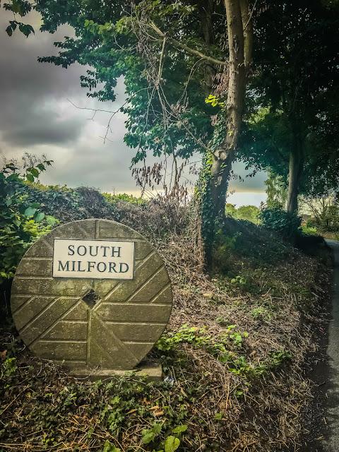 Steeton Hall Gateway South Milford sign