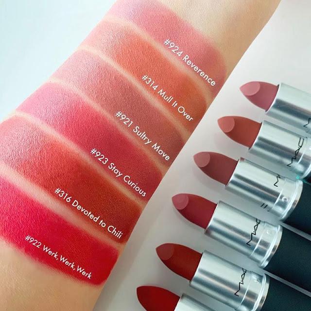 MAC Powder Kiss Lipstick Werk Werk Werk
