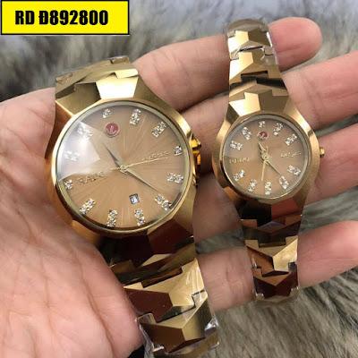 Đồng hồ cặp đôi Rado mặt vuông RD Đ892800