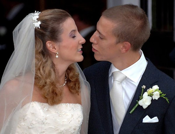 Prince Louis and Princess Tessy of Luxembourg, wedding ceremony, married, Prince Noah and Prince Gabriel, wedding dress