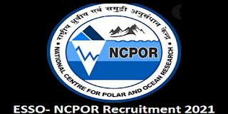 ESSO- NCPOR Recruitment 2021 for 85 Posts