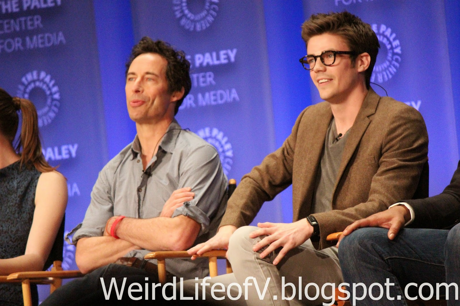 Tom Cavanaugh and Grant Gustin