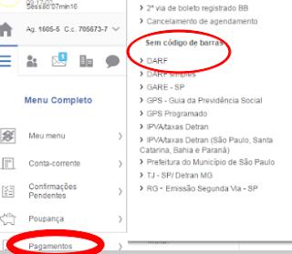 Como fazer para pagar DARF no Banco do Brasil