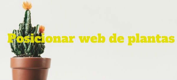 Posicionar web de Plantas para Empresas dedicadas en este sector con ECO SEO Green Marketing