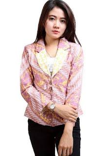 Model baju batik atasan wanita fashionable