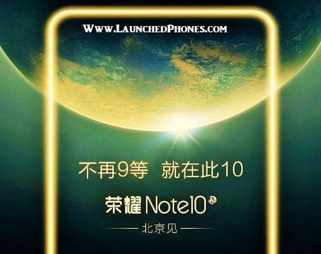 which volition endure launched nether the premium segment Upcoming Honor Mobile Honor Note ten coming