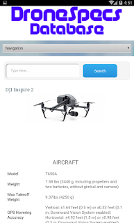Aplikasi Spesifikasi Drone - OmahDrones