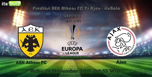 Prediksi AEK Athens FC Vs Ajax - ituBola